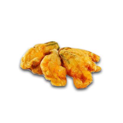 Fiori di zucca con mozzarella e alici pastellati prefritti