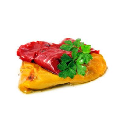 Peperoni grigliati in olio
