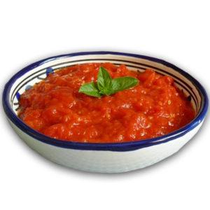 Salsa al pomodoro e basilico
